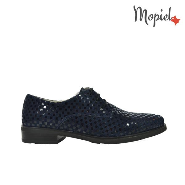 pantofi dama Pantofi dama din piele naturala 23526/patratele/blue/Aspen DSC 4592