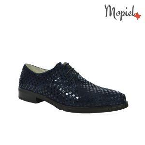 Pantofi dama din piele naturala 23526/patratele/blue/Aspen incaltaminte-mopiel.ro pantofi dama