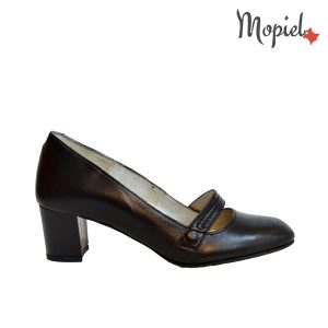 Pantofi cu toc din piele naturala, Mopiel (1)