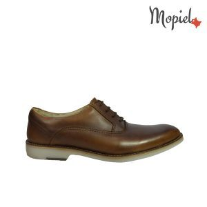 pantofi dama - Pantofi dama din piele naturala cu siret interior din piele naturala Mopiel - Pantofi dama din piele naturala 23526/patratele/blue/Aspen