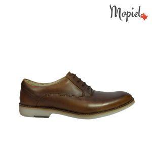 pantofi barbatesti - Pantofi dama din piele naturala cu siret interior din piele naturala Mopiel - Pantofi barbatesti din piele naturala 13504/maro/Apolo