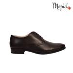 pantofi barbatesti - Pantofi dama din piele naturala cu siret interior din piele naturala Mopiel - Pantofi barbatesti din piele naturala 14507/negru/Fabio
