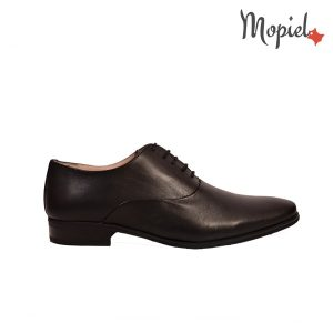 pantofi barbati - Pantofi dama din piele naturala cu siret interior din piele naturala Mopiel - Pantofi barbati, din piele naturala 14507/negru/Fabio