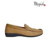 Pantofi din piele naturala 2132/visiniu Mocasini dama Mopiel