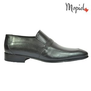 pantofi barbati - Pantofi barbatesti Mopiel - Pantofi barbati, din piele naturala 106/negru
