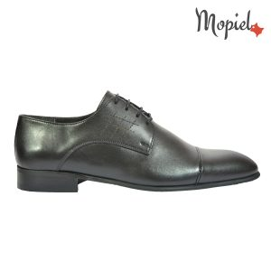 pantofi barbati - Pantofi barbatesti Mopiel - Pantofi barbati, din piele naturala 102/negru