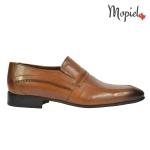pantofi  barbatesti Pantofi barbatesti din piele naturala 3821/blue/box Pantofi barbatesti Mopiel