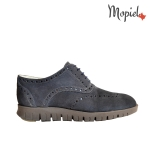 Pantofi barbatesti din piele naturala 13701/gri/inchis/Borgo incaltaminte-mopiel.ro pantofi barbatesti