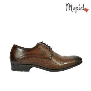 pantofi barbati - Pantofi barbati din piele naturala Mopiel - Pantofi barbati, din piele naturala 61062/maro/box