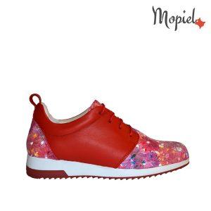 pantofi dama - Pantofi dama din piele naturala Mopiel - Pantofi dama din piele naturala 23705/Rosu/Naty