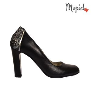 pantofi dama - Pantofi dama din piele naturala Mopiel - Pantofi dama din piele naturala 24708/Negru/Corsica
