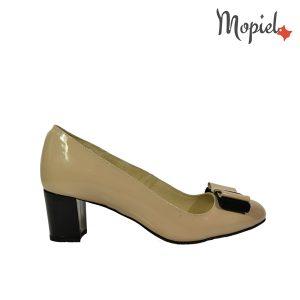 pantofi - Pantofi dama din piele naturala cu toc Mopiel - Pantofi dama din piele naturala 24702-1/bej/Rona