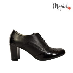 pantofi dama - Pantofi dama din piele naturala cu toc Mopiel - Pantofi dama din piele naturala 23529/lac/napa/negru/Carla
