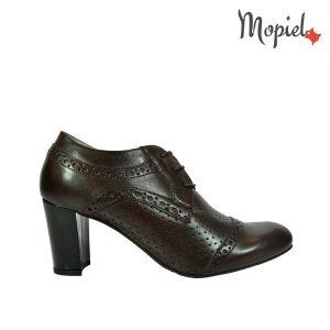 pantofi dama - Pantofi dama din piele naturala cu toc Mopiel - Pantofi dama din piele naturala 23528/Maro/Carla