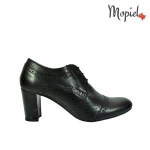 - Pantofi dama din piele naturala cu toc Mopiel - Pantofi dama din piele naturala 23528/negru/Carla