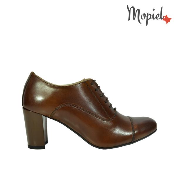 pantofi dama - Pantofi dama din piele naturala cu toc Mopiel - Pantofi dama din piele naturala 23523/maro/Carla