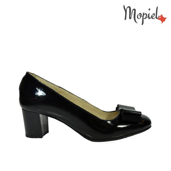 pantofi - Pantofi dama din piele naturala cu toc Mopiel - Pantofi dama din piele naturala 24702-1/negru/Rona