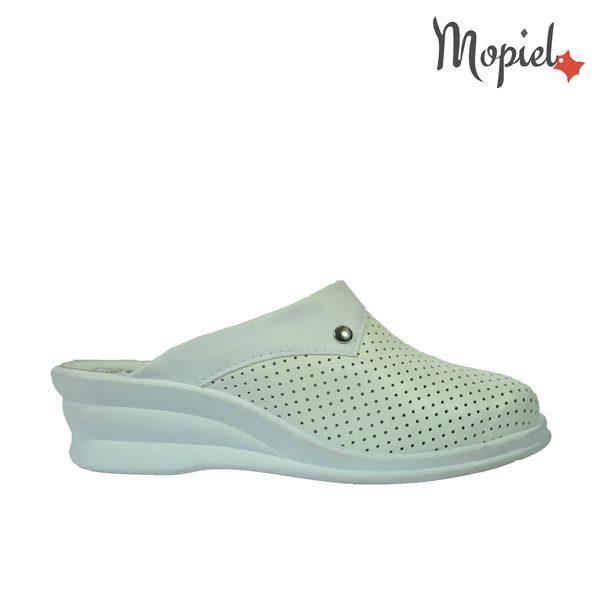 papuci medicinali - Papuci medicinali din piele naturala Mopiel - Papuci medicinali din piele naturala 10/alb