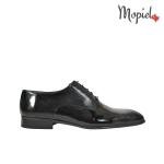 pantofi - pantofi barbati Mopiel - Pantofi barbatesti din piele naturala 109/NEGRU/LAC