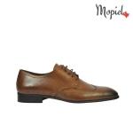 pantofi - pantofi barbati din piele naturala Mopiel - Pantofi barbatesti din piele naturala 109/NEGRU/LAC