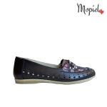 pantofi Pantofi dama din piele naturala 24430/negru/Crina Balerini dama din piele naturala interior din piele naturala cu siret Mopiel