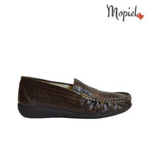 mocasini - Mocasini dama din piele naturala Mopiel - Mocasini dama din piele naturala 2340/maro/croco/Alessia