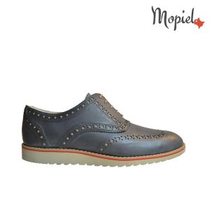 Pantofi barbatesti din piele naturala cu siret, interior din pielle naturala, Mopiel.ro