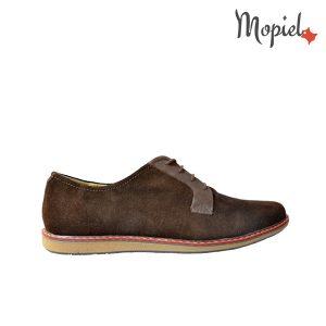 Pantofi barbatesti din piele naturala, interior din piele naturala cu siret, Mopiel.ro