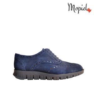 pantofi barbati - Pantofi barbatesti din piele naturala intoarsa Cu siret iinterior din piele naturala Mopiel - Pantofi barbati, din piele naturala 13701/SP/Bleumarin/Borgo