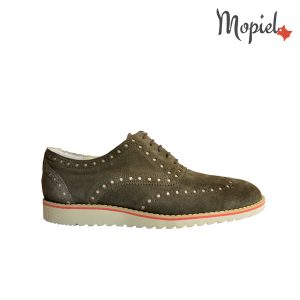 pantofi barbati - Pantofi barbatesti din piele naturala intoarsa interior din piele naturala Mopiel - Pantofi barbati, din piele naturala 13701/SP/Gri/Inchis/Florin