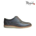 pantofi - Pantofi barbatesti din piele naturalla cu siret Mopiel - Pantofi barbati din piele naturala 13701/gri/deschis/Florin