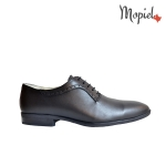 pantofi Pantofi barbatesti din piele naturala 13701/sp/gri/inchis/Florin Pantofi barbatesti din piele naturla cu siret interior din piele naturala Mopiel