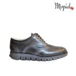 pantofi Pantofi barbatesti din piele naturala 13701/sp/gri/inchis/Florin Pantofi barbatesti dinpiele naturala cu siret interior din piele naturala Mopiel