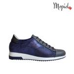 pantofi Pantofi dama din piele naturala 23514/albastru/gri/Naty Pantofi dama Mopiel