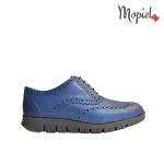 pantofi Pantofi barbati din piele naturala 13701/gri/inchis/Florin Pantofi dama din piele naturala cu siret interior din piele naturala Mopiel