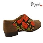 Pantofi dama piele naturala intoarsa, Mopiel.ro