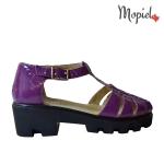 sandale Sandale dama din piele naturala Ionela/25610/auriu Sandale dama din piele naturala cu catarama interior din piele naturala Mopiel