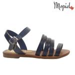 sandale Sandale dama din piele naturala Geo/25024/albastru Sandale dama cu multe barete albastre Mopiel 1 150x150