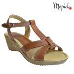 Sandale dama din piele naturala cu catarama si platforma, Mopiel.ro