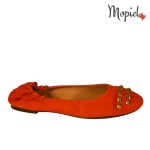 sandale Sandale dama din piele naturala Nidia/25610/nappa/maro balerini dama din piele naturala intoarsa cu tinte interior din piele naturala MOpiel