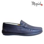 mocasini - mocasini barbati din piele naturala pantofi dama din piele naturala Mopiel - Mocasini barbatesti din piele naturala 1340/bleumarin/perf/top