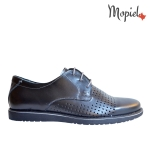 pantofia Pantofi barbatesti din piele naturala 3337/nub/blue pantofi barbatesti din piele naturala cu siret interior din piele naturala MOpiel