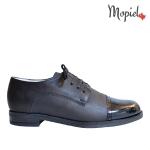 pantofi Pantofi dama din piele naturala 142/negru/lac pantofi dama din piele naturala cu siret interior din piele naturala Mopiel