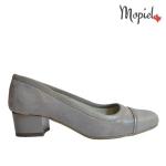 pantofi - pantofi dama din piele naturala pantori barbati Mopiel - Pantofi dama din piele naturala 24704/taupe/picatele/bej
