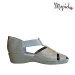 sandale Sandale dama din piele naturala Nela/25637/taupe/sarpe pantofi dama pantofi barbati incaltaminte romaneasca Mopiel
