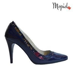 pantofi - pantofi dama pantofi barbati pantofi din piele naturala Mopiel - Pantofi dama din piele naturala 24430/lac/blue/Crina