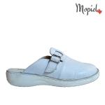 papuci Papuci medicinali din piele naturala 127/alb papuci medicinali Mopiel