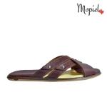 papuci Papuci  din piele naturala Cata/312/maro papuci medicinali barbatesti din piele naturala Mopiel