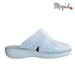 papuci Papuci medicinali din piele naturala 298/albastru papuci medicinali dama din piele naturala Mopiel