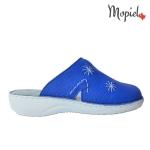 papuci Papuci medicinali din piele naturala 298/albastru papuci medicinali din piele naturala Mopiel